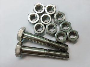 मिश्र धातु 20 बोल्ट और नट्स स्टेनलेस स्टील फास्टनर uns n08020