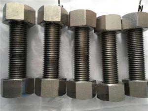 निकल फास्टनर के साथ निकेल मिश्र धातु 400 EN2.4360 पूरी तरह से थ्रेड रॉड