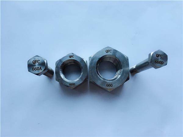 निकल मिश्र धातु c22 en 2.4602 सभी थ्रेडेड स्टड बोल्ट नट hastelloy c 276