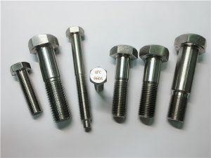 No.25-Incoloy a286 hex बोल्ट 1.4980 a286 फास्टनरों gh2132 स्टेनलेस स्टील हार्डवेयर हार्डवेयर पेंच पेंच