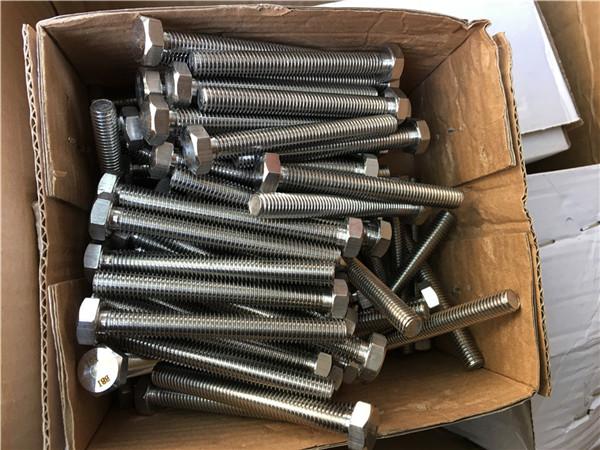 310s / 1.4845 विशेष स्टेनलेस स्टील फास्टनरों हेक्स बोल्ट अखरोट वॉशर m24 * 80 मिमी
