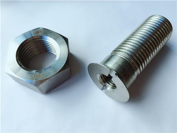 कस्टम कार्बन स्टील धातु हार्डवेयर ट्रैक बोल्ट और अखरोट