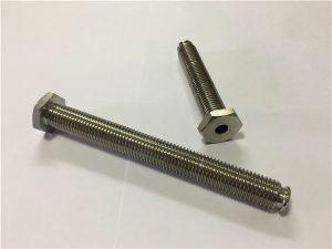 नहीं -64-होल टाइटेनियम मिश्र धातु के माध्यम से होल टाइटेनियम मिश्र धातु 6Al4V डिश हेड एलन की