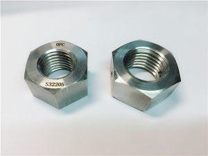 No.76 डुप्लेक्स 2205 F53 1.4410 S32750 स्टेनलेस स्टील फास्टनरों हेक्स नट