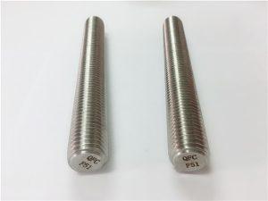 No.77 डुप्लेक्स 2205 S32205 स्टेनलेस स्टील फास्टनरों DIN975 DIN976 थ्रेड छड़ F51