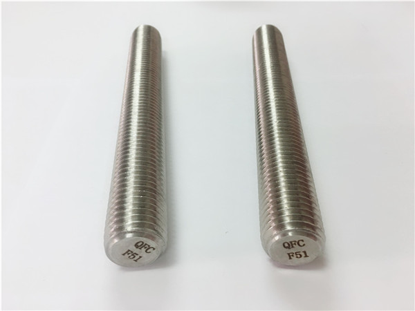 duplex2205 / s32205 स्टेनलेस स्टील फास्टनरों din975 / din976 पिरोया छड़ f51