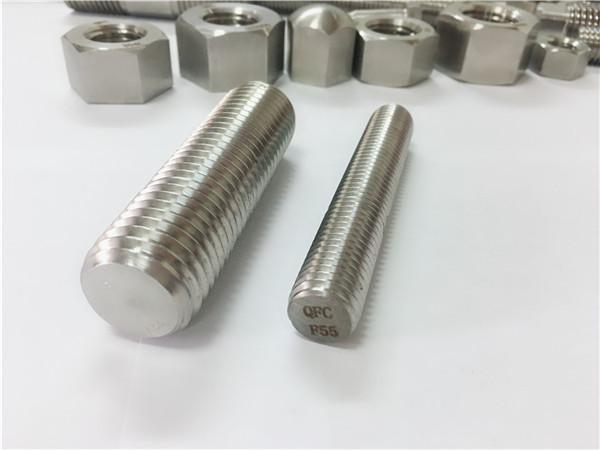 f55 / zeron100 स्टेनलेस स्टील फास्टनरों पूर्ण पिरोया रॉड s32760