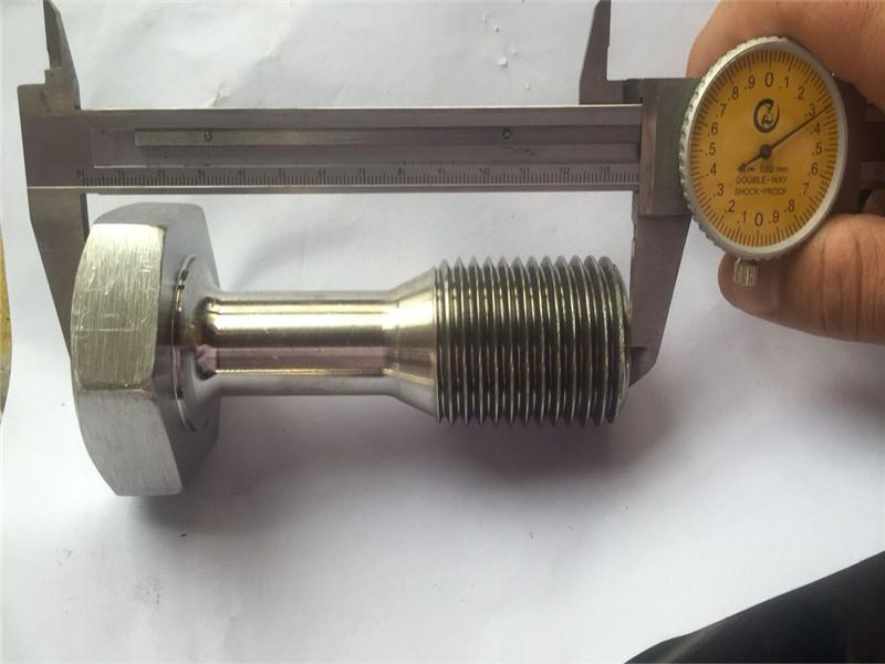 कस्टम सीएनसी भागों परिशुद्धता मशीनिंग पेंच बांधनेवाला पदार्थ बदल गया