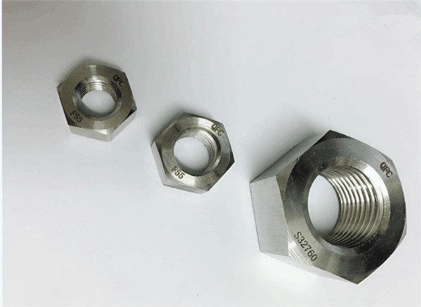 डुप्लेक्स 2205 / f55 / 1.4501 / s32760 स्टेनलेस स्टील फास्टनरों भारी हेक्स नट m20